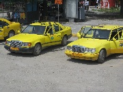 All taxi cabs are yellow